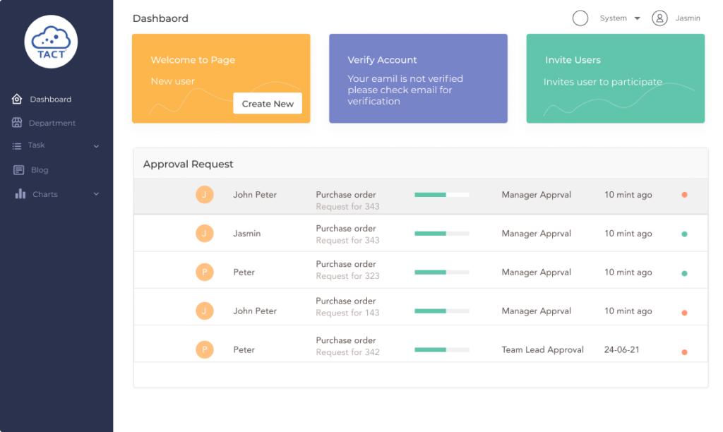 Workflow Management System   TACT Connect